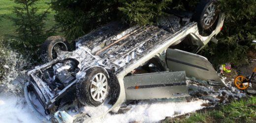 Strażacy z KP PSP w Myślenicach interweniowali w Trzebuni i w Krzczonowie