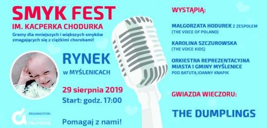 29 sierpnia wielki koncert charytatywny na myślenickim rynku