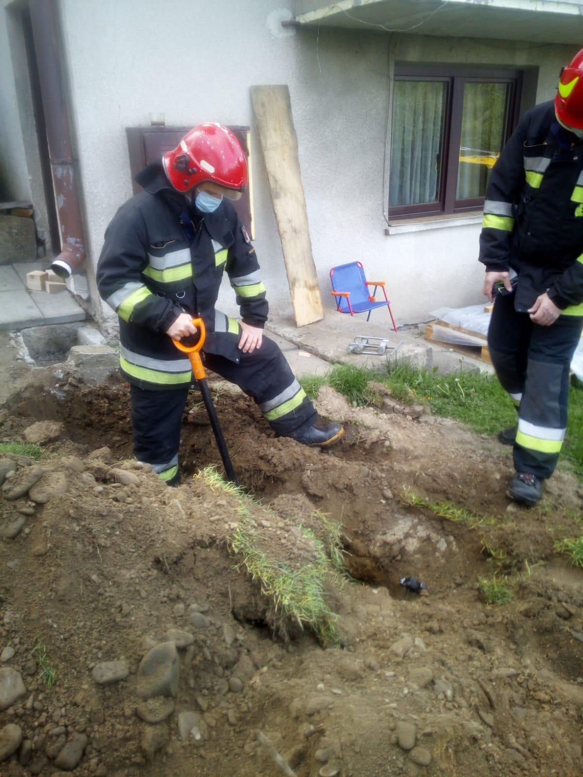 Przerwany gazociąg w Drogini