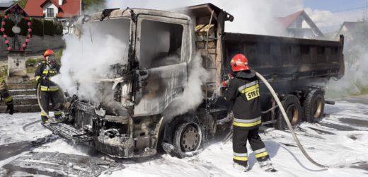 Pożar ciężarówki w Jasienicy