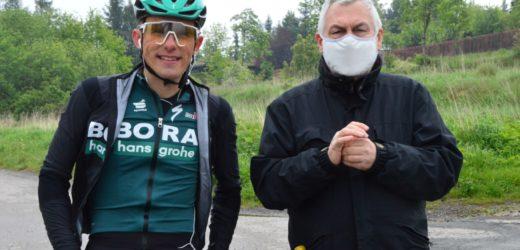Spotkanie z Rafałem Majką (na drodze na Chełm)