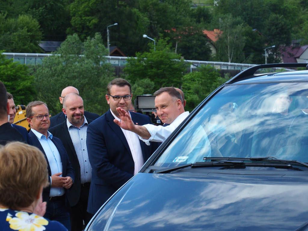 Prezydent Andrzej Duda na górnym jazie