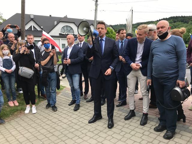 Rafał Trzaskowski w Myślenicach
