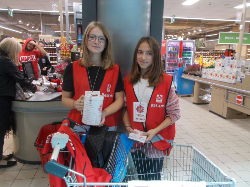 Betania zbiera żywność bez wolontariuszy
