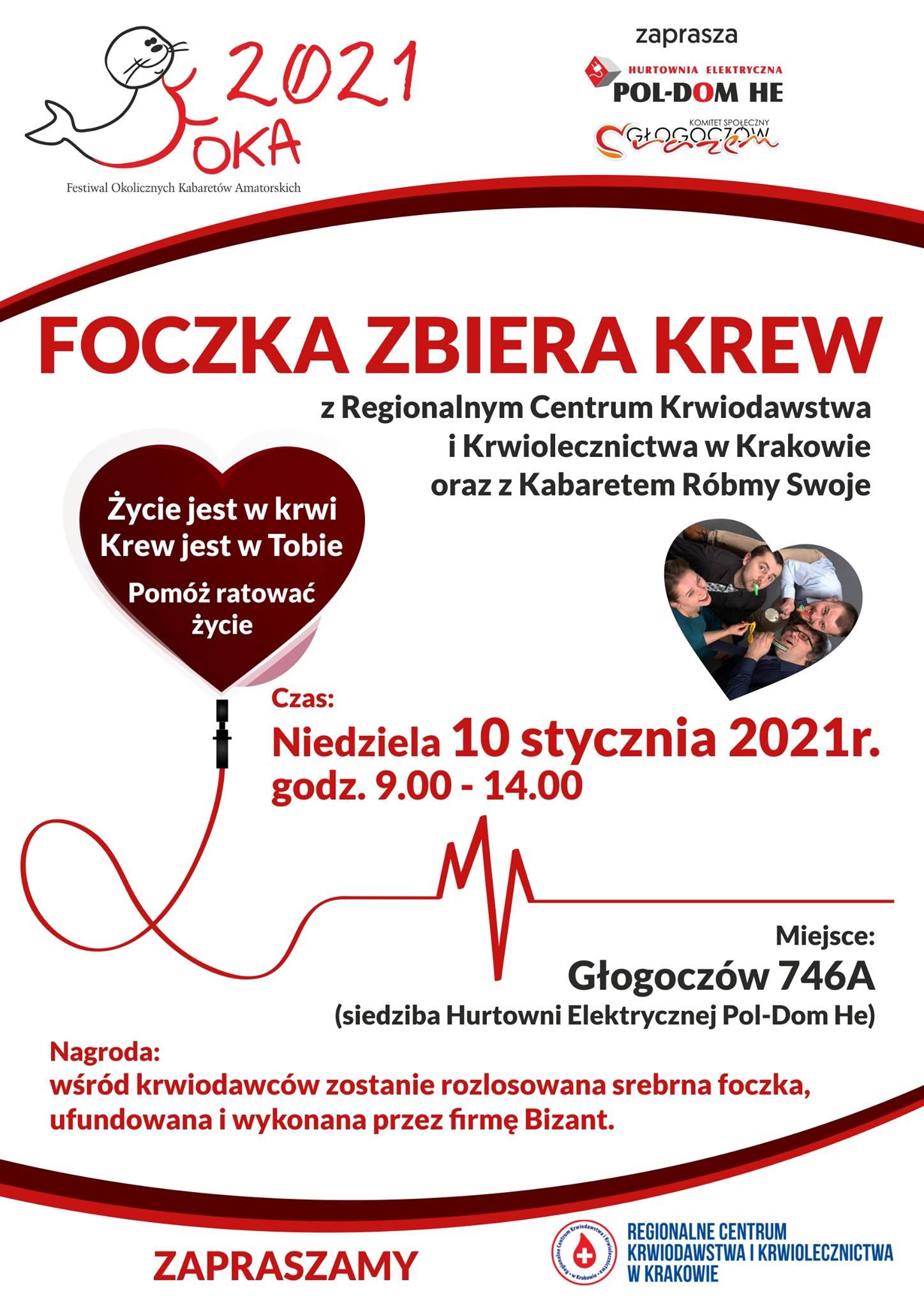 FOKA zaprasza honorowych dawców krwi
