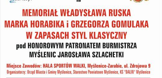 Sekcja zapaśnicza Dalinu Myślenice zaprasza na Memoriał im Ruska