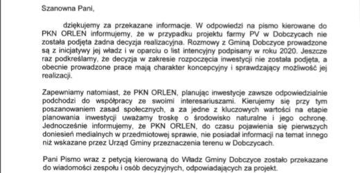 PKN Orlen odpowiada radnej