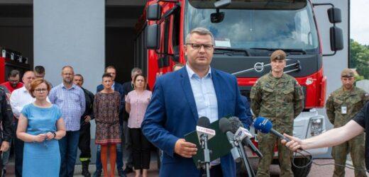 Podsumowanie akcji usuwania skutków powodzi na terenie gminy Myślenice
