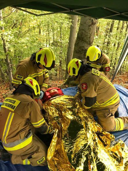 Strażacy i ratownicy w Kobielniku